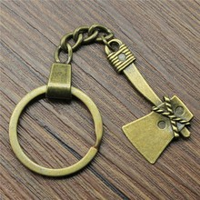 40mm Ax Keychain Antique Bronze Vintage Handmade Party Gift Jewelry Dropshipping