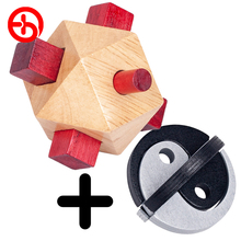 Buy One Get Free Aliexpress Value Sale Wooden Torpedo And Tai Chi Lock Educational Montessori Puzzles Game Toys For Children
