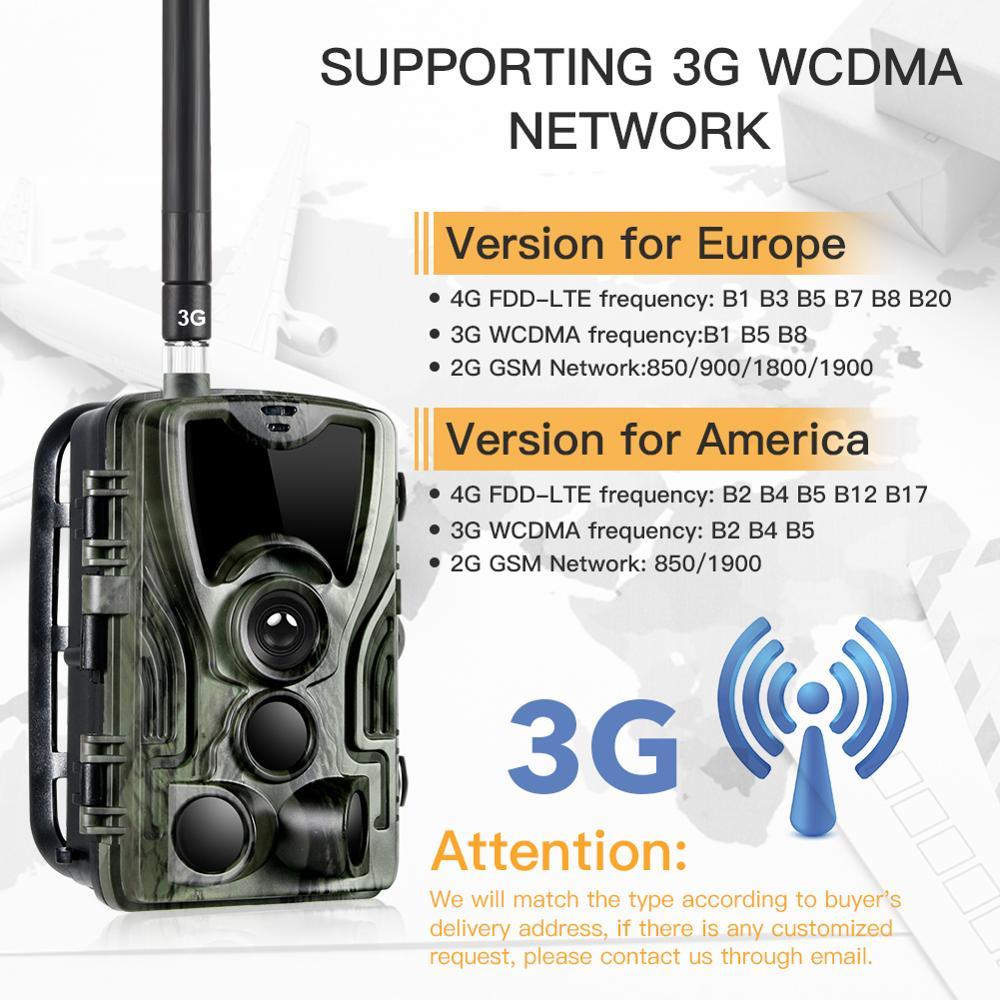 Suntekcam HC-801G 16MP 3G Câmera de Caça Infravermelho Câmera MMS/SMTP Armadilha Foto 0.3s Gatilho Tempo 940nm LEDs selvagens Câmera PhotoTrap