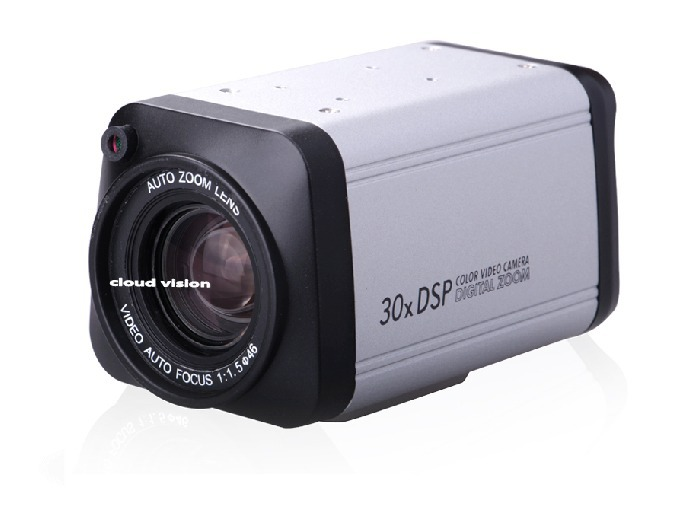box camera automatic zoom monitor camera 30X box zoom 480TVL SONY CCD Camera cctv automatic zoom for free shipping