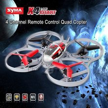 Hot Syma X4 4CH 2.4GHz 6 Axis RC Helicopter Drone Throw Flight Remote Control quadcopter 2 Mode 360 Eversion Aircraft Toys