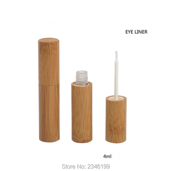 4ML 20pcs/lot New Arrival Bamboo Eyeliner Tube, Top Grade Eye Liquid Container,Cosmetic Eye Growth Liquid Bottle,Eye Makeup Tool