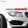 Mercedes classe Um w176 do amortecedor dianteiro de canard divisores para benz 2013 2014 2015 AMG & A160 CDI A180 A200 A250 A45 AMG com Pacote