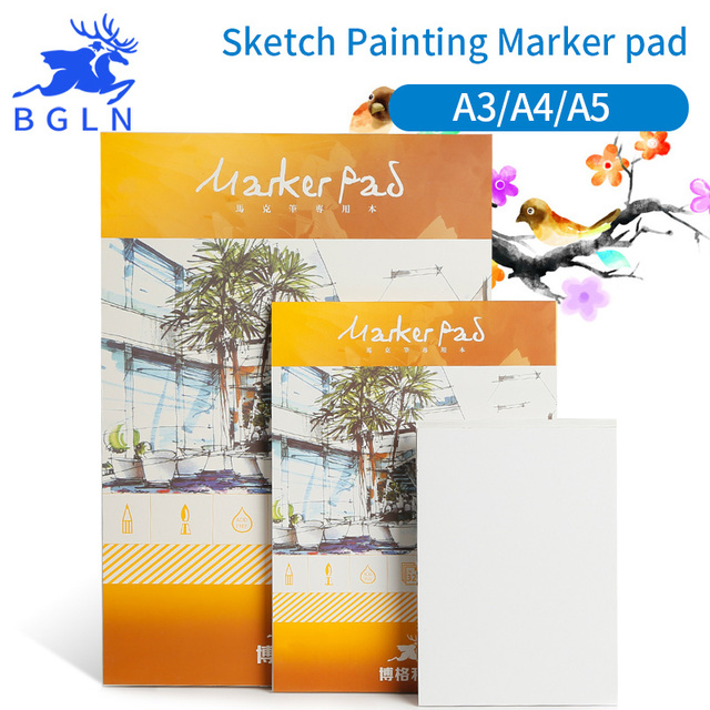 Bgln A3 A4 A5 Professional Markers Pen PaperPad Animation Design Art Marker Book For