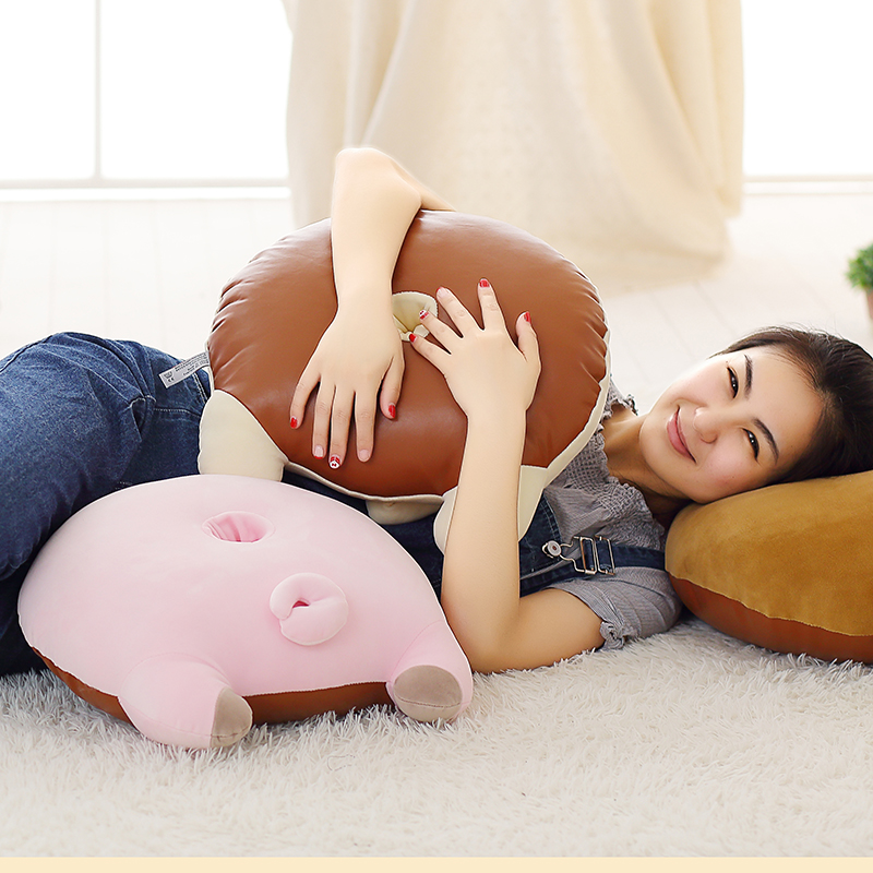 45cm New Styles Cute Polar Bear Pig Cat Arse Plush Toys Stuffed Cartoon Pillow Sofa Cushion Sexy Hip Plush Pillow Kids Baby Toy cartoon rabbit brown bear cat plush toys doll waist cushion and pillow cushion for automobile