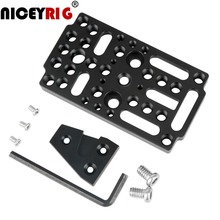 NICEYRIG Switching Cheese Easy Plate Quick Release Plate with V Lock Male Adapter for Raiblocks, Dovetails(1 set) 1/4 3/8 Holes