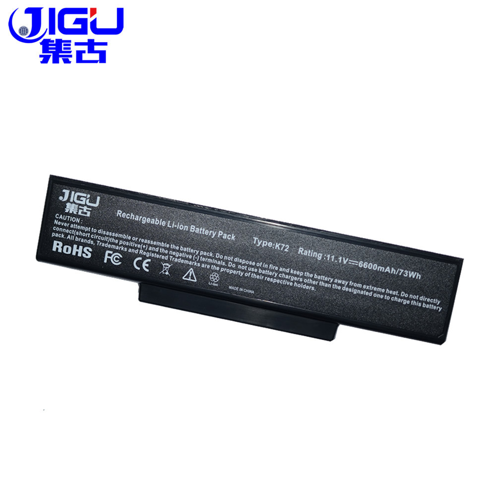 JIGU 9Cells Laptop Battery For Asus A72 K72 K73 N71 N73 X77 A32-K72 A32-N71 ...