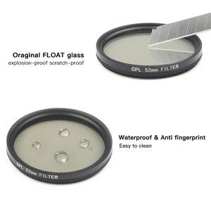 Набор круглых поляризационных фильтров SHOOT 52 мм из черного стекла для объектива CPL с адаптером для фильтров для экшн-камер GoPro Hero 7 6 5 Go Pro