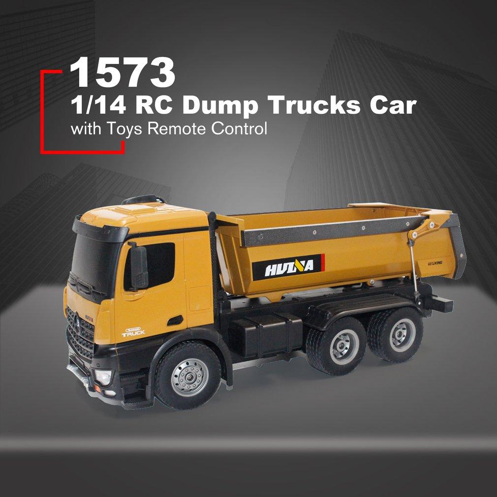 HUINA JOUETS 1573 1/14 10Alliage de CH RC camions à benne basculante ingénierie Construction voiture télécommande véhicule jouet RTR RC camion cadeau pour garçon