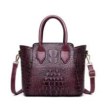 2019 New Vintage Crocodile Pattern Crossbody Bags for Women Genuine Leather Handbags Alligator Tote Bags for Women Shoulder Bag цена в Москве и Питере