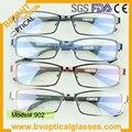 902 Полный обод металлические человека прямоугольник очки кадр рецепту близорукость очки очки