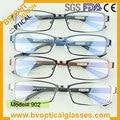 902 Full rim metal man's rectangle eyeglasses frame prescription myopia spectacles eyewear