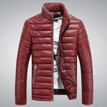 2016 новый мужской зимнее пальто pure color тонкий стиль сгущает пуховик хлопка-ватник мода молодежная одежда