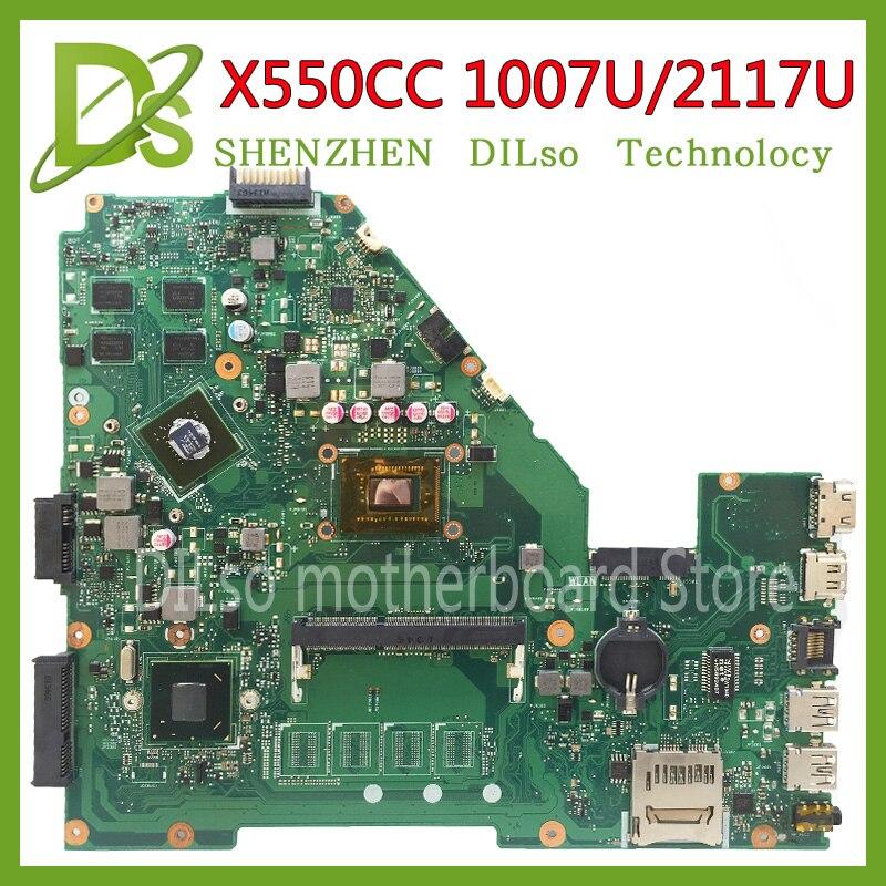 KEFU X550CC X550CL Motherboard laptop motherboard para ASUS X550CC R510C R510CC 1007U/2117u originais motherboard