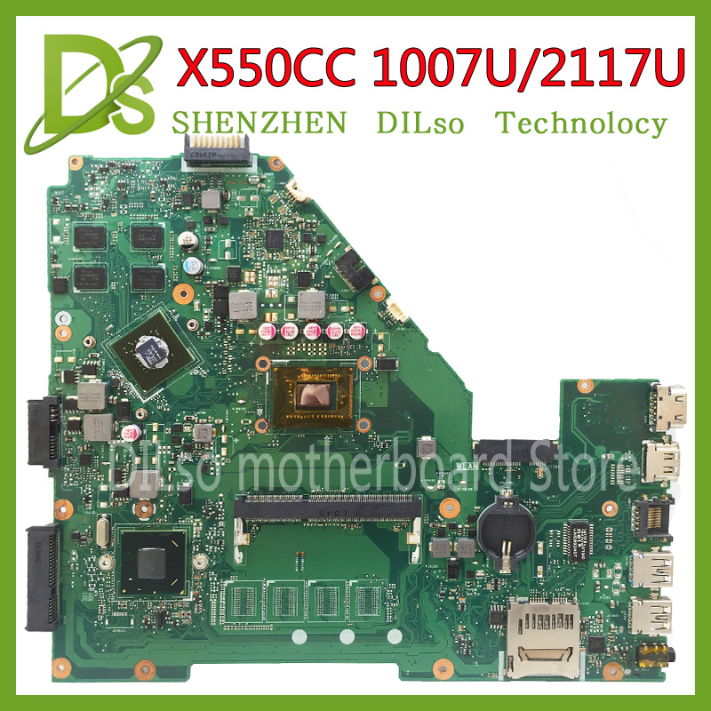 KEFU X550CC motherboard for ASUS X550CC R510C R510CC X550CL laptop Motherboard 1007U/2117u 100%Tested original motherboard for asus x550cc r510cc ddr3 fit x550vb laptop motherboard gt720m 2gb i3 3217u cpu hm76 x550cc rev 2 0 pn 60nb00wa 100