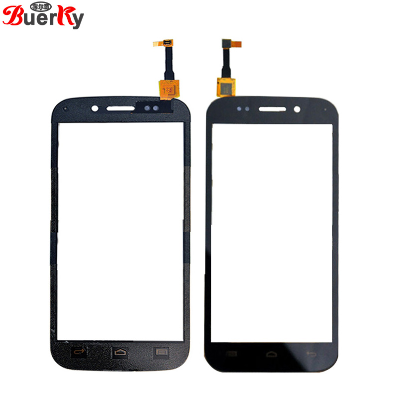 BKparts  10pcs For Micromax Canvas A210 Touch screen touch panel Glass Digitizer Replacement black and Free shipping