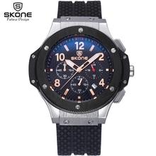 Skone Sport Chronograph Quartz Wrist Hub Watch Men Military Clock Mens Watches Top Brand Luxury Wristwatch relogio masculino