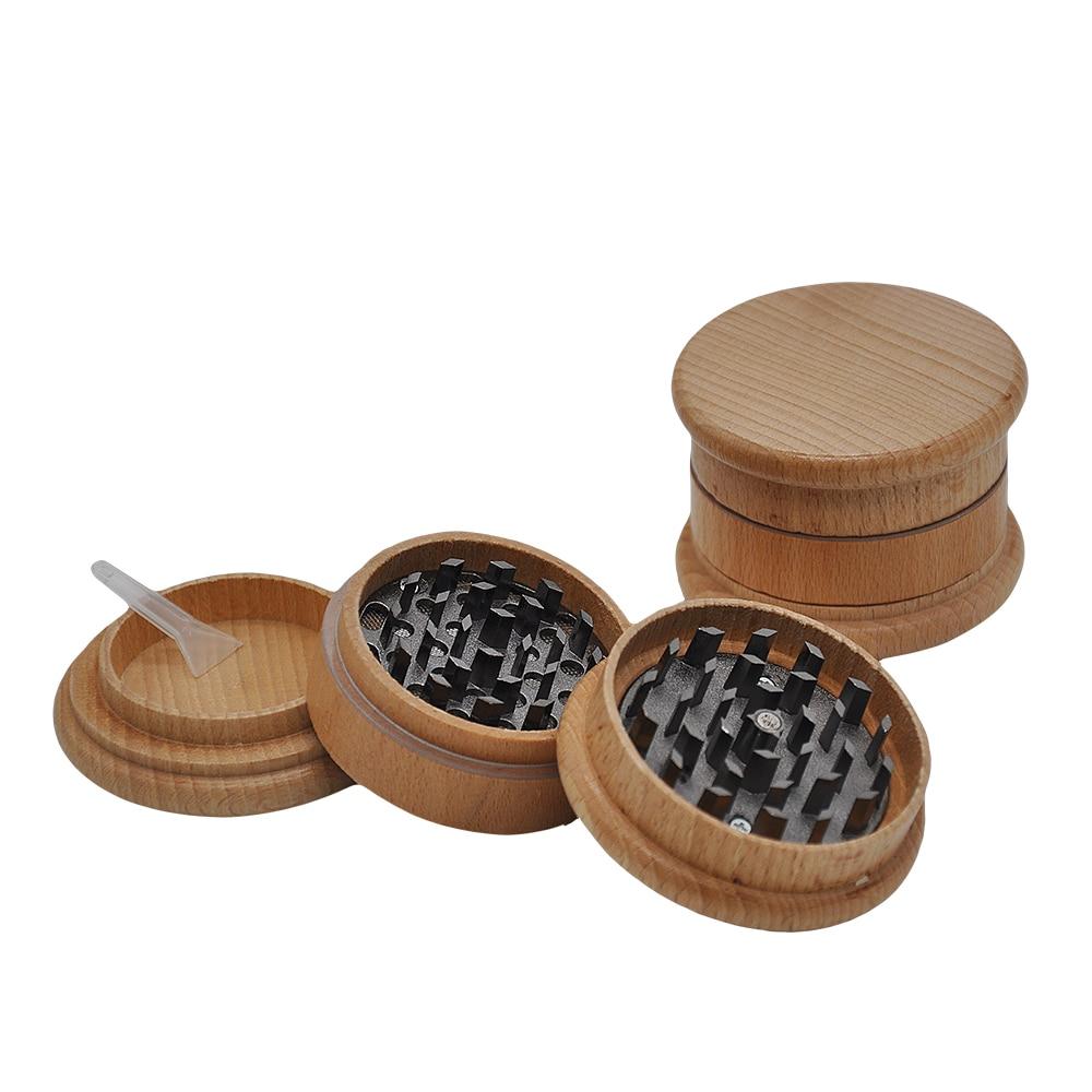 HORNET Wooden Herb Grinder 63 MM 3 Layers Spice Herb Grinder With Metal Teeth Tobacco Hand Grinder Crusher