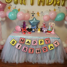 Multi Color Tulle Table Skirt Fluffy DIY Decoration Wedding Festival Party Get together Birthday