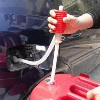 Pompe manuelle de transfert deau de gaz huile | Tuyau Siphon créatif pour voiture, pompe à liquide de voiture et camion 1pc
