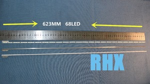 Image 5 - ل إصلاح هاير تلفاز LCD LED الخلفية LE50A5000 50DU6000 المادة مصباح V500H1 ME1 TLEM9 1 قطعة = 68LED 623 مللي متر