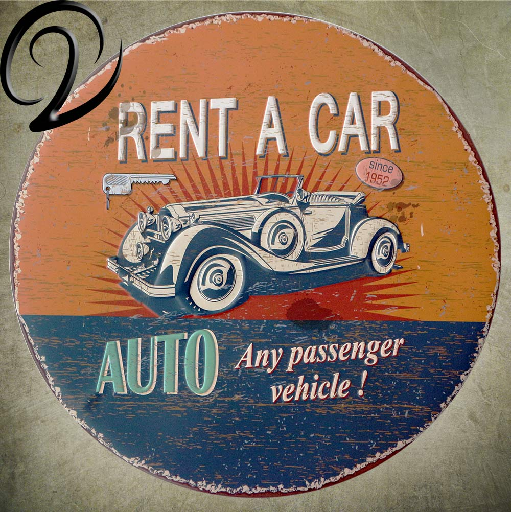 Car Gas Oil Garage Metal Painting Round Tin Sign Plaque