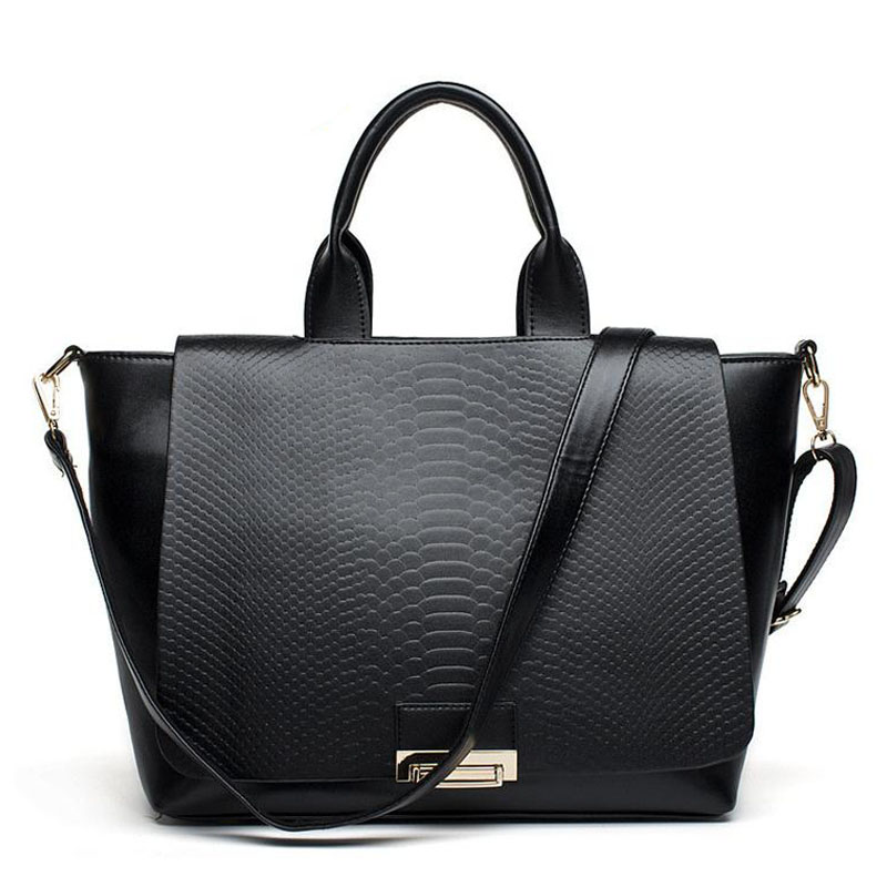 Ladies bags handbags women famous brands tote 2015 bolsos carteras mujer marca pu shoulder big black trapeze bag for women от Aliexpress INT
