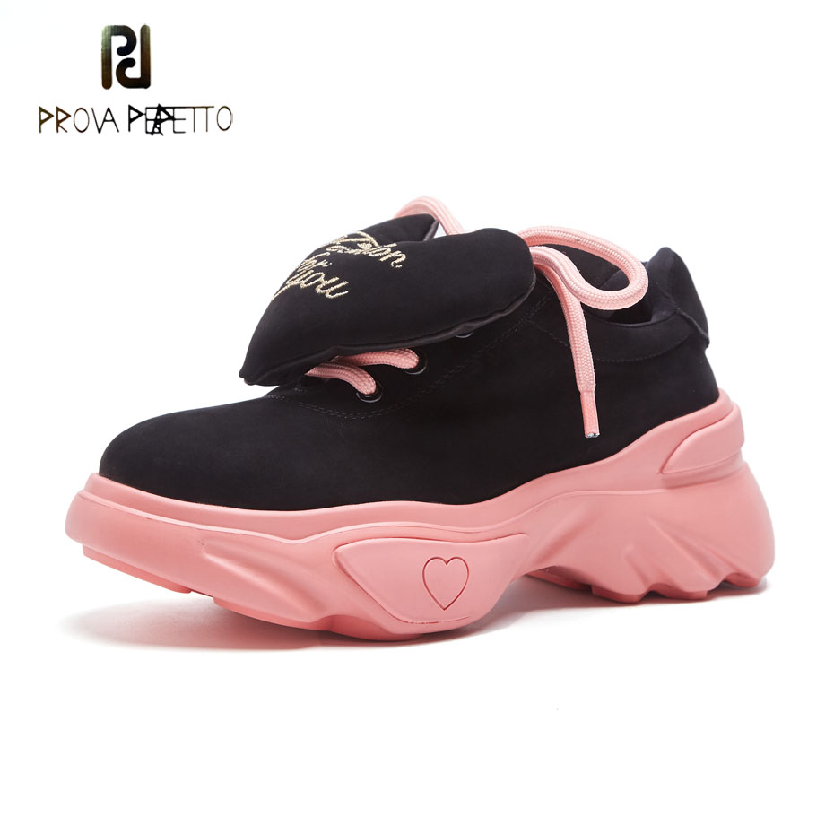 Prova Perfetto 2018 autumn fashion heart embellish causal shoes platform flat lace up sneakers women mixed color thick bottom prova perfetto bling bling diamond women casual shoes lace up rhinestone sequine sneakers shoes thick bottom fashion girl shoes