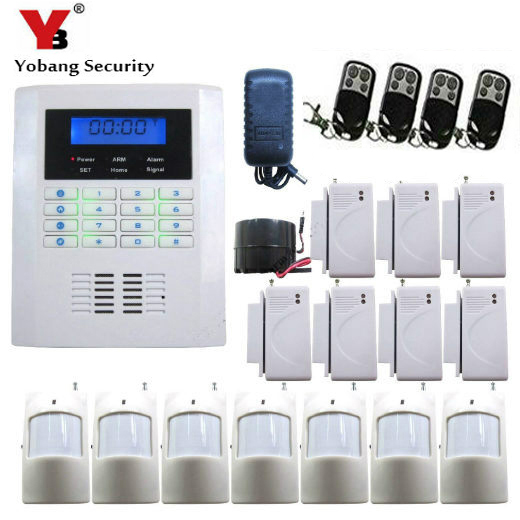 YobangSecurity Wireless GSM PSTN Security System 433Mhz Home Alarm System Russian Spanish Czech Voice PIR/Door Sensor Kit new 433mhz wireless door window sensor for gsm pstn home alarm system home security voice burglar smart alarm system