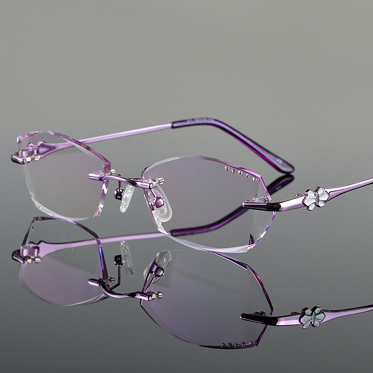 Rimless Glasses Trend : 2016 New fashion women rimless glasses frame Eyeglass ...