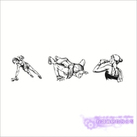 Fitness Club Decal Gym Sticker Body building Dumbbell Posters Vinyl Wall Decals Pegatina Decor Mural Gym Sticker JXB001