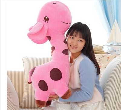 about 85cm giraffe plush toy cartoon spotted giraffe doll, pink throw pillow ,Christmas gift b4690 free shipping about 60cm cartoon totoro plush toy dark grey totoro doll throw pillow christmas gift w4704