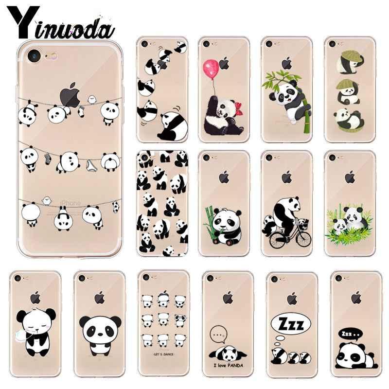 Yinuoda Cute Cartoon Panda Coque Shell Phone Case For Iphone 5 5sx 6 7 7plus 8 8plus X Xs Max Xr
