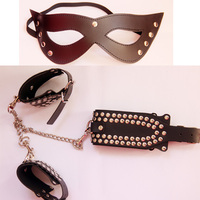 Porno Sex Handcuffs Sex Collar mask Bondage Set Sexy Lingerie Handcuffs for sex