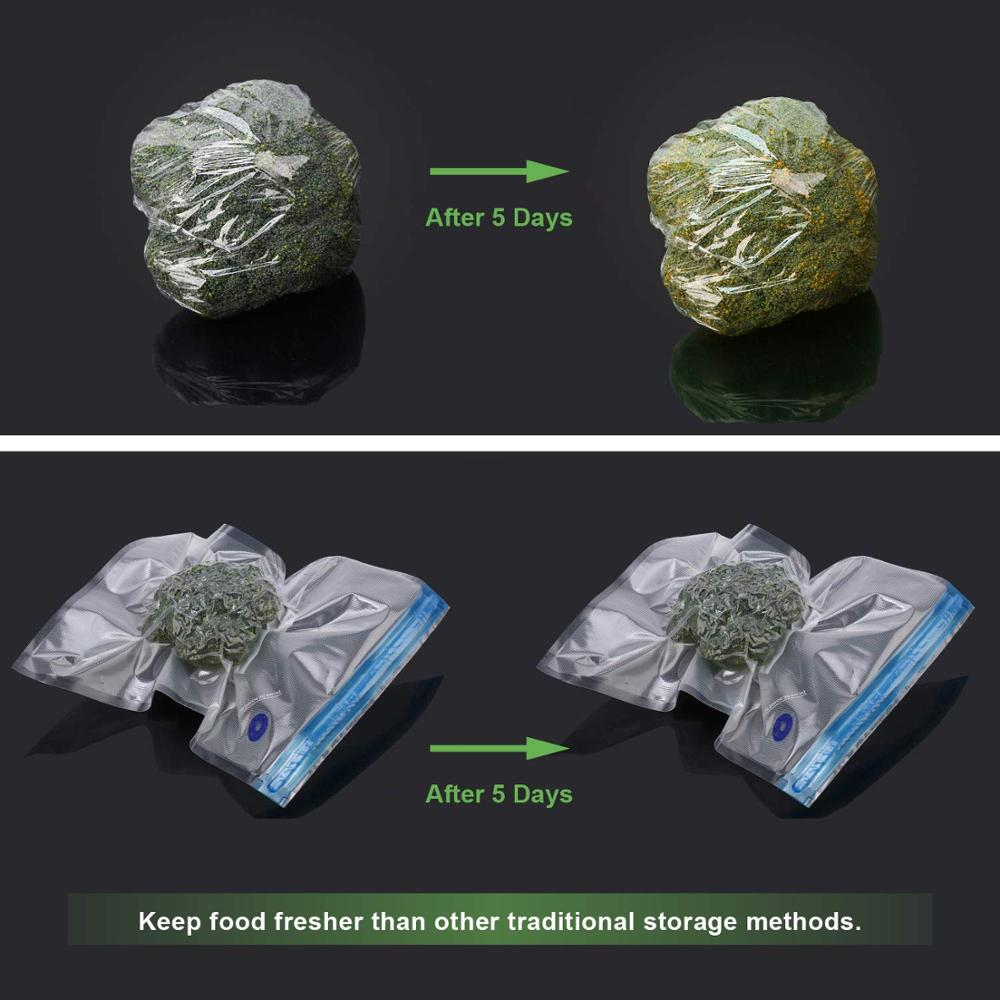 Image 4 - 20Pcs/set Bag Kits Reusable Food Storage Vacuum Seal Bags With Hand Pump Bag Sealing Clips Food Wrap For Food Storage Freezing-in Saran Wrap & Plastic Bags from Home & Garden