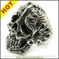 Popular Mens BoysFire Flame Skull Ring Punk Jewelry Cool Stainless Steel Size 8-13 Best Gift