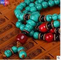 8mm gebet japa rosenkranz mala 108 perlen halskette Halskette natürliche stein frauen silber schmuck mujer moda
