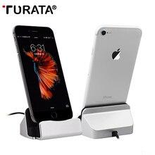 TURATA зарядное устройство зарядная док-станция Мобильный телефон Настольная док-станция USB кабель синхронизации данных для iPhone 5S 6S 7 Plus Android тип-c