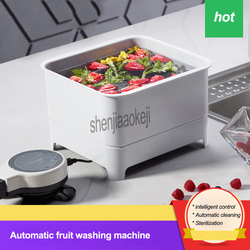 1pc Home vegetable cleaning machine intelligent control/Automatic cleaning/Sterilization fruit washing machine 8L 220v 60w