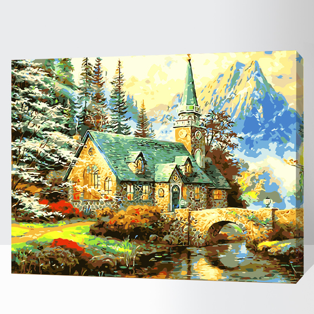 Oil Painting Picture By Numbers Coloring Diy Handmade Wall Art
