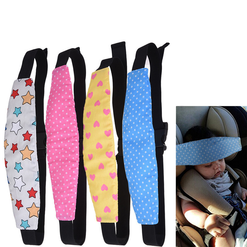 Car Children Safety Seat Sleeping Security Fixed Strap Fastening Belt Adjustable Head Support for Car Seat