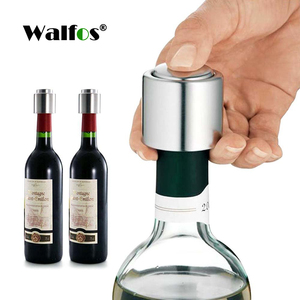 Walfos 1 PC Bottle Stopper Stainless Steel Red Wine Stopper Vacuum Sealed Red Wine Bottle Spout Liquor Flow Stopper Pour Cap
