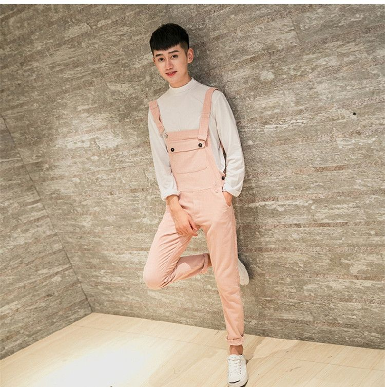 United Male Casual Overalls Hip Hop Male Casual Loose Pants New Arrival Army Green Jumpsuits Men Suspender Trousers 041608 Overalls