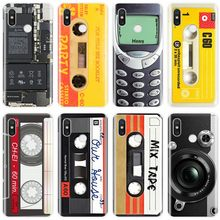 Vintage Tape Camera Gameboy Cover TPU Phone Case For xiaomi 4 4S 5 5S 5S PLUS 5C 6 6X 8 8Pro 8SE 8lite 9 9SE MAX 2 3 3Pro(China)