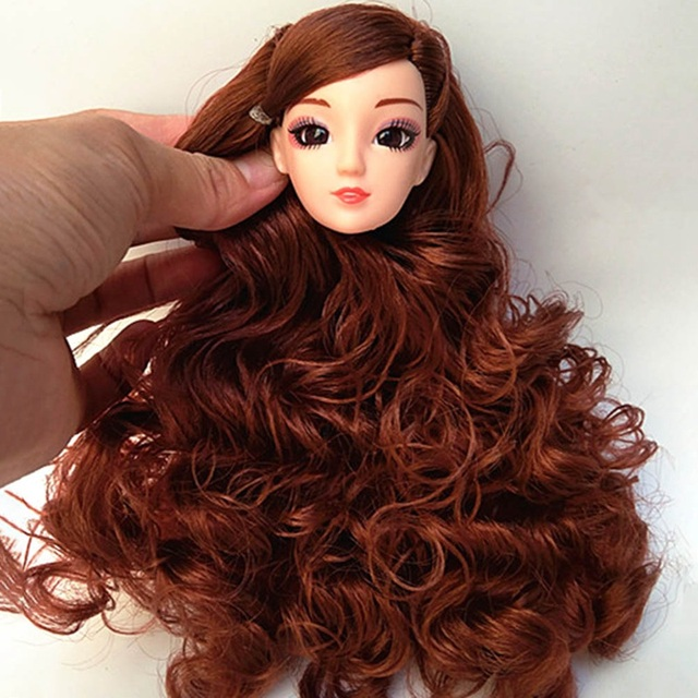 Pcs D Eyes Head Nake Joints Body Doll Head Toys For Dolls Girls Gift