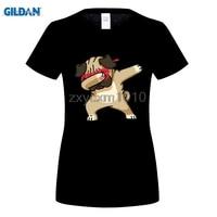 GILDAN Summer Fashion Dabbing Pug T Shirt Est Women Funny T Shirts Dabbing Unicorn Zebra Panda