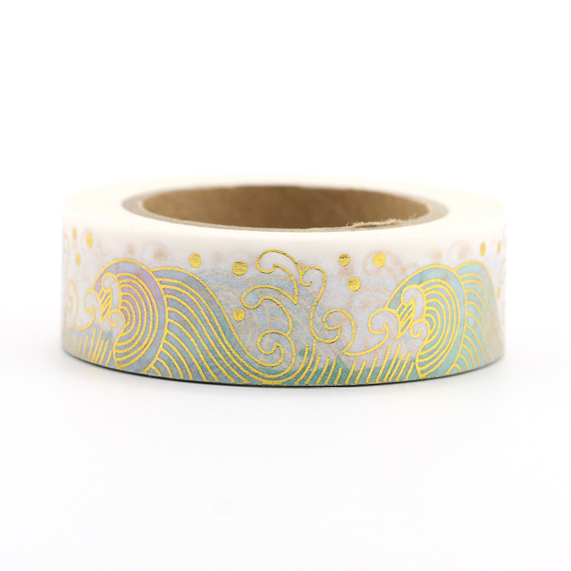1PCS Foli Cloud Washi Tape DIY Decoration Scrapbooking Planner Masking Tape Kawaii Stationery Adhesive Tape in Office Adhesive Tape from Office School Supplies