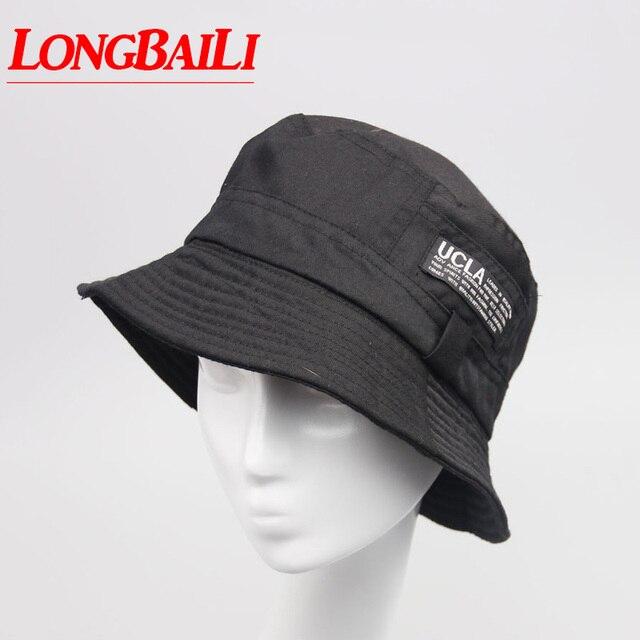 100% Cotton Bucket Hats Men Reversible Sun Beach Caps Fisherman Hats Women  Free shipping SDDB011 f2984198a517