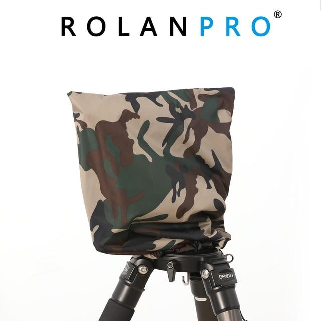 ROLANPRO Rain Cover Raincoat Army Green Camouflage Clothing for Gitzo Benro GH2 Wimberley WH 200 Gitzo GHFG1 Gimbal Head