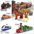 Model building kits compatible with lego ausini train succession3 3D blocks Educational model building toys hobbies for children